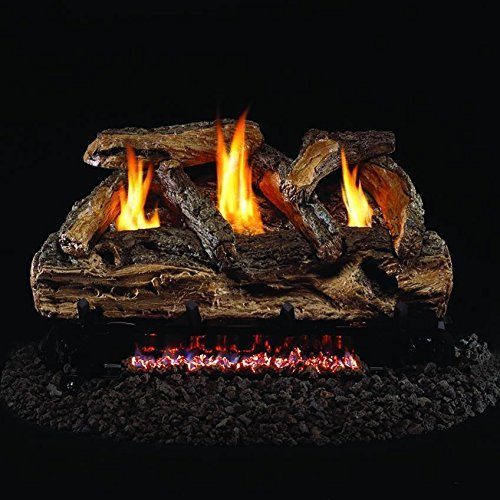 1. Peterson Real Fyre 24-inch Split Oak Log Set With Vent-free Natural Gas ANSI Certified G9 Burner - Basic On/Off Remote