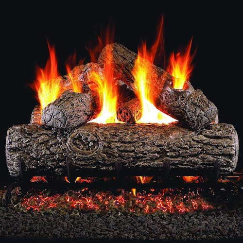 9. RealFyre Golden Oak Vented Gas Logs (R-18)