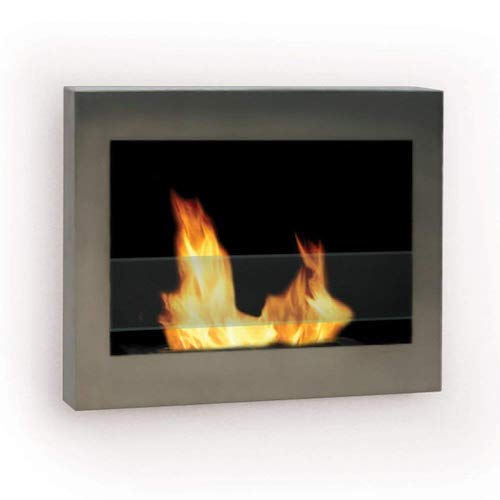 8. Anywhere Fireplace - SoHo Stainless Steel Wall Mount Fireplace