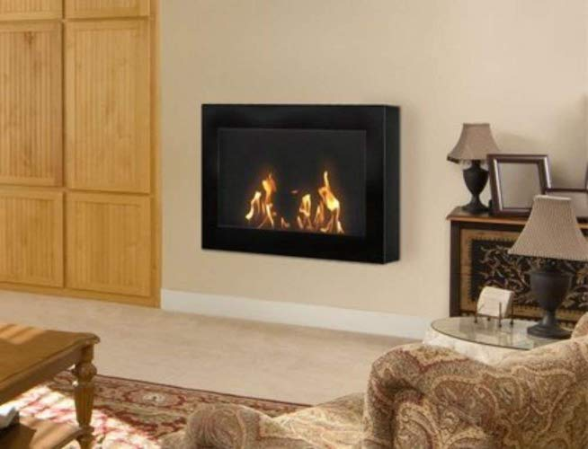 10. Anywhere Fireplace - SoHo Model Black Wall Mount Fireplace