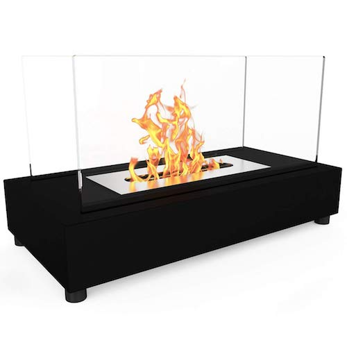 7. Elite Flame Avon Ventless Table Top Bio-Ethanol Fireplace Black