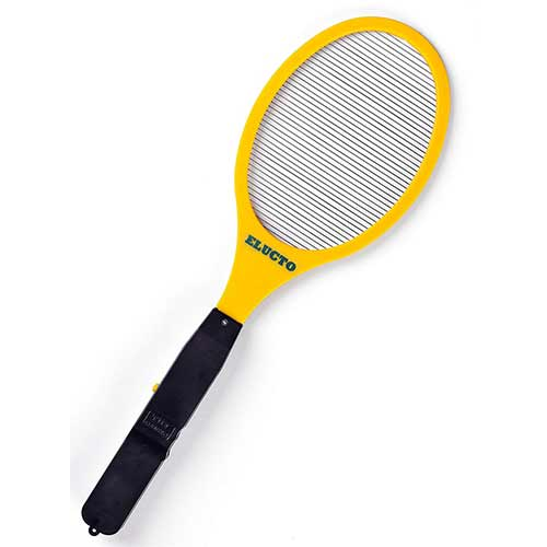 Best Fly Killers For Indoors And Outdoors: 2. Elucto Electric Bug Zapper Fly Swatter Zap Mosquito Best for Indoor and Outdoor Pest Control 2200 Volt
