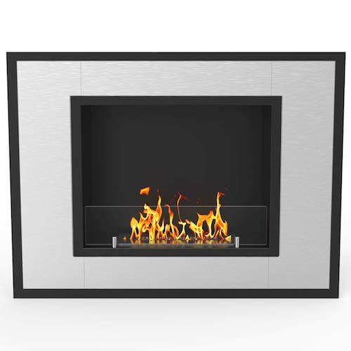 2. Regal Flame Austin 32 Inch Ventless Built-In Recessed Bio Ethanol Wall Mounted Fireplace