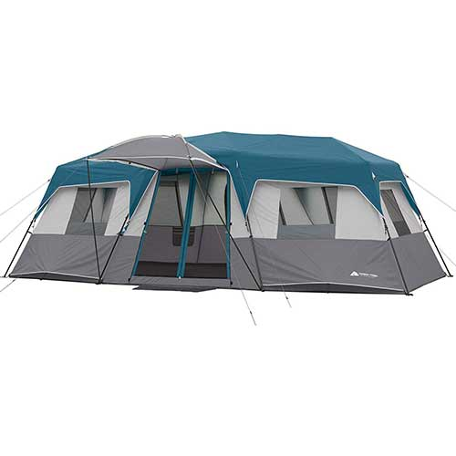 Best 10 Person Instant Tents 8. Ozark Trail 15-Person 3 Room Split Plan Instant Cabin, Teal