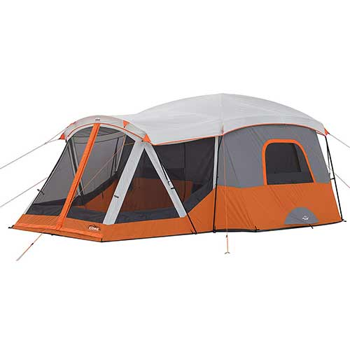 Best 10 Person Instant Tents 4. CORE 11 Person Cabin Tent with Screen Room - 17' x 12'