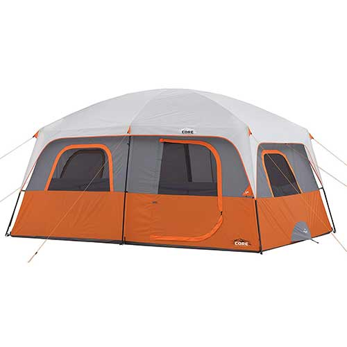 Best 10 Person Instant Tents 2. CORE 10 Person Straight Wall Cabin Tent - 14' x 10'