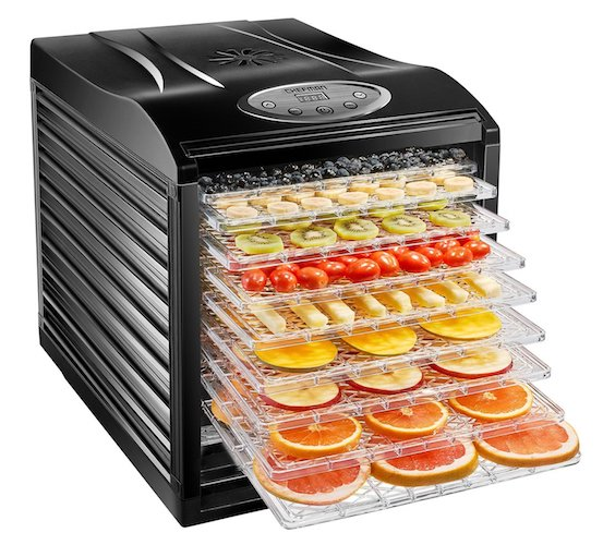 9. Chefman 9 Tray Food Dehydrator Machine Professional Electric Multi-Tier Food Preserver, Meat or Beef Jerky Maker, Fruit & Vegetable Dryer with BPA Free Slide Out Trays & Transparent Door