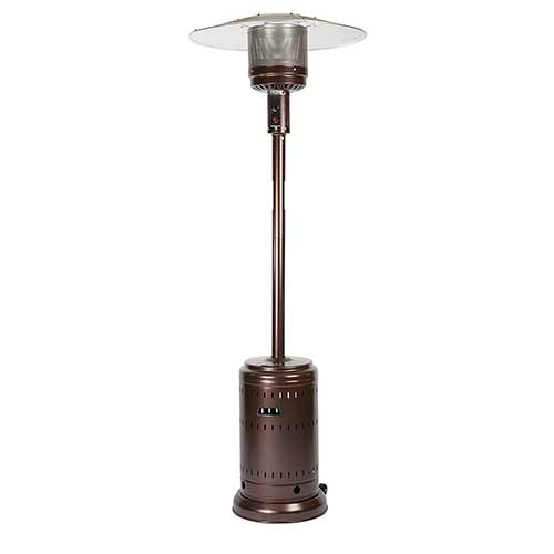 Best Natural Gas Patio Heaters 5. Fire Sense Hammer Tone Bronze Patio Heater