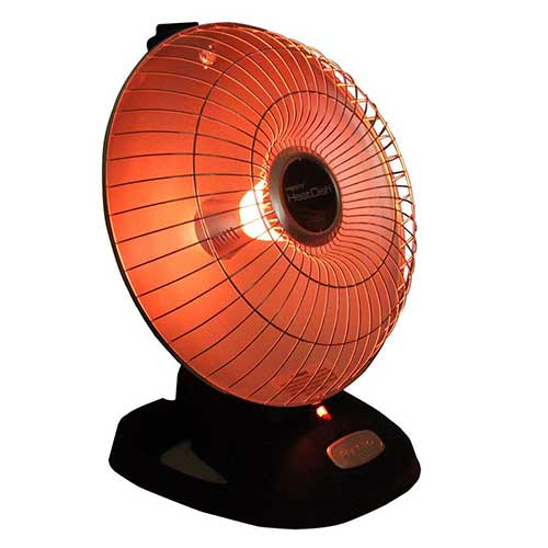 Best Portable Kerosene Heaters 1. Presto Heat Dish plus Parabolic Electric Heater