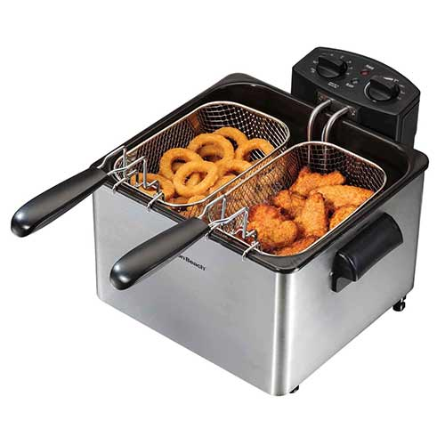 Best Commercial Deep Fryers 2. Hamilton Beach 35034 Double Basket Deep Fryer