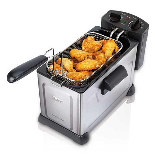 Best Commercial Deep Fryers 3. Oster CKSTDFZM37-SS1 Professional Style Stainless Steel Deep Fryer