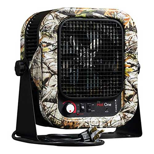 Best Space Heaters for Large Room with High Ceilings 4. Cadet RCP502SCM Electric Portable Garage Camo Heater