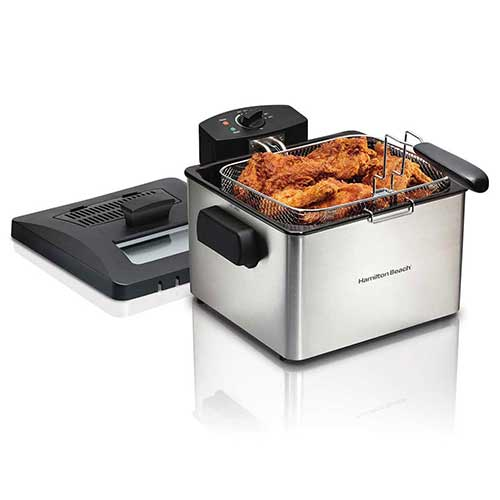 Best Commercial Deep Fryers 8. Hamilton Beach 35042 Professional Home 21 Cup 1 Basket Electric Deep Fat Fryer