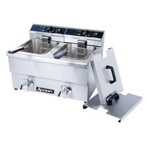 Best Commercial Deep Fryers 9. Adcraft Countertop Double Tank Deep Fryer