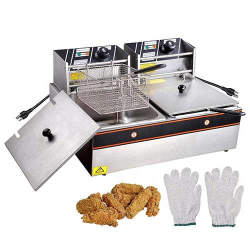 Best Commercial Deep Fryers 4. PNR 12L 5000W Stainless Steel Electric Deep Fryer