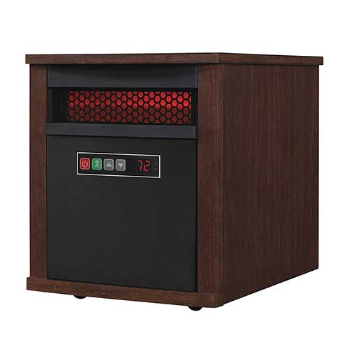 Best Space Heaters for Large Drafty Room 8. Duraflame 9HM7000-NC04 Portable Electric Infrared Quartz Heater, Cherry