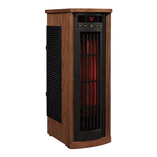 Best Space Heaters for Large Drafty Room 4. Duraflame 5HM8000-O142 Portable Electric Infrared Quartz Oscillating Tower Heater,