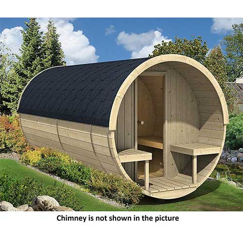 Best Barrel Saunas 10. Allwood Barrel Sauna #400-WHP WOOD HEATER