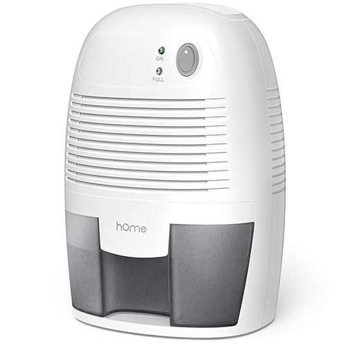 Best Small Dehumidifiers 1. hOmeLabs Small Dehumidifier for 1200 cu ft (150 sq ft) Bathroom or Closets