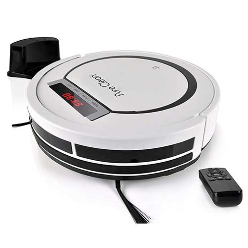 Best Roombas for Hardwood Floors 7. PURE CLEAN Automatic Programmable Vacuum Cleaner
