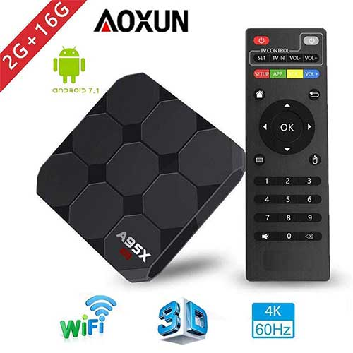 Best Android TV Boxes Under 50 2. Aoxun 2018 Model A95X New Generation Android TV Box