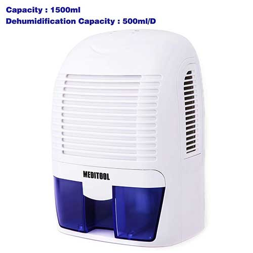Best Small Dehumidifiers 8. Rendio Auto Quiet Portable Compact Home Dehumidifiers