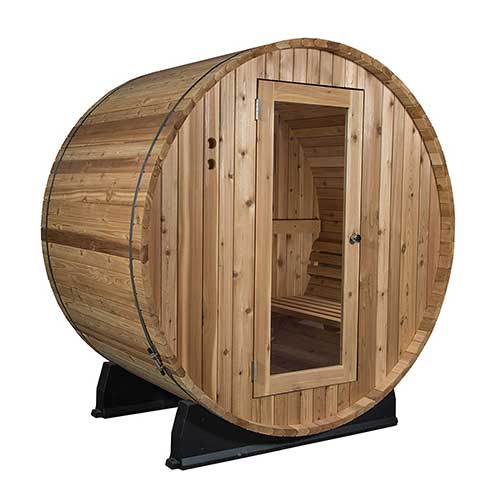 Best Barrel Saunas 4. Almost Heaven Saunas | Quality Indoor/Outdoor Sauna Kit | Made in the USA | Detox & Weight Loss | Natural Wellness | Therapeutic Steam Spa (Salem 2-Person Barrel Sauna, Rustic Cedar)