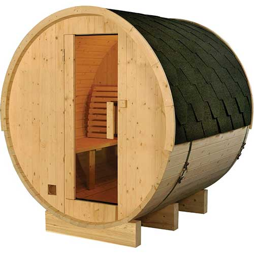 Best Barrel Saunas 6. Finnish Finland Pine Wood 6' Foot Outdoor Barrel Sauna, 4 Person, with 6KW Wet or Dry Heater and Lava Rocks