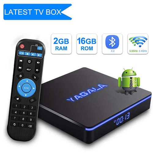 Best Android TV Boxes Under 50 5. YAGALA TV Box Android 7.1.2 TV Box