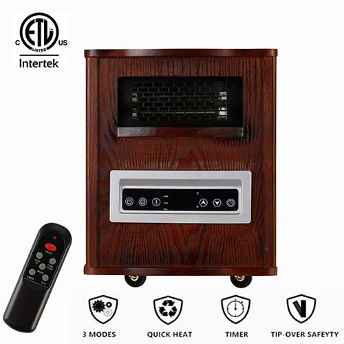 Best Space Heaters for Large Drafty Room 6. Wonlink Electric Infrared Cabinet Space Heater