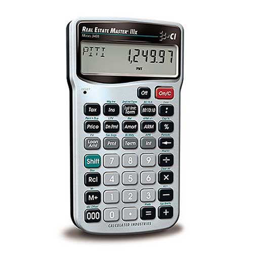 Best Financial Calculators for Real Estate 1. Calculated Industries 3405 Real Estate Master IIIX Real Estate Finance Calculator