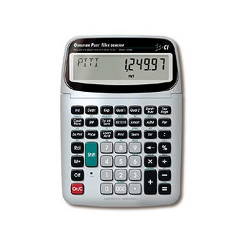 Best Financial Calculators for Real Estate 3. Calculated Industries 43430 Desktop Qualifier Plus IIIFX DT Real Estate Finance Calculator