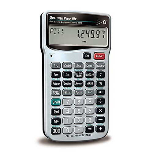 Best Financial Calculators for Real Estate 2. Calculated Industries 3415 Qualifier plus IIIX Real Estate Finance Calculator