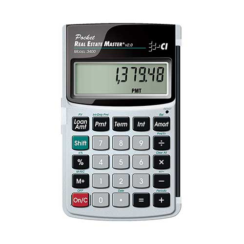 Best Financial Calculators for Real Estate 5. Calculated Industries 3400 Pocket Real Estate Master Financial Calculator