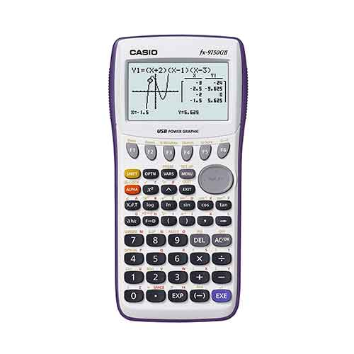 4. Casio fx-9750GII Graphing Calculator, White