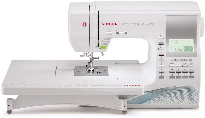 2. SINGER | Quantum Stylist 9960 Computerized Portable Sewing Machine with 600-Stitches Electronic Auto Pilot Mode, Extension Table and Bonus Accessories, Perfect for Customizing Projects