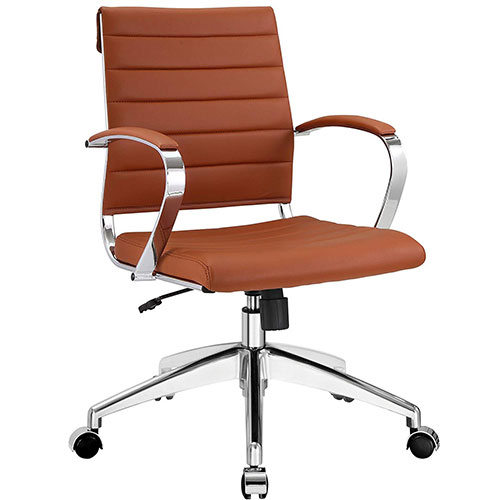 7. Modway Jive Ribbed Mid Back Executive Office Chair