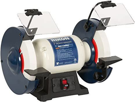 """1. Rikon Professional Power Tools, 80-805, 8"""" Slow Speed Bench Grinder, Powerful Shop Table Tool, Perfect for Sharpening"""