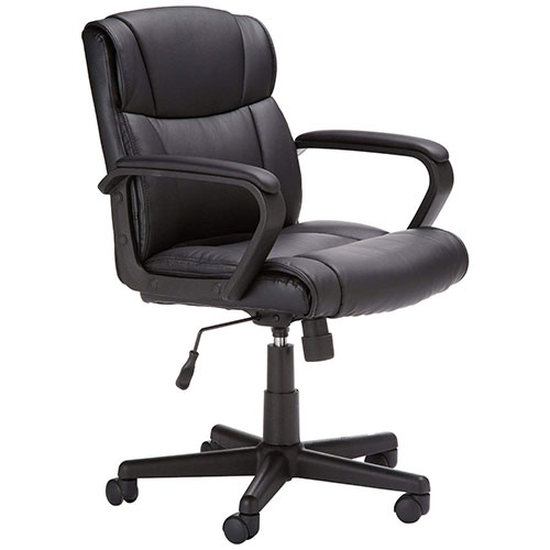 Best Office Desk Chairs Under 100 6. AmazonBasics Mid-Back Office Chair