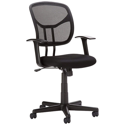Best Office Desk Chairs Under 100 4. AmazonBasics Mid-Back Black Mesh Chair