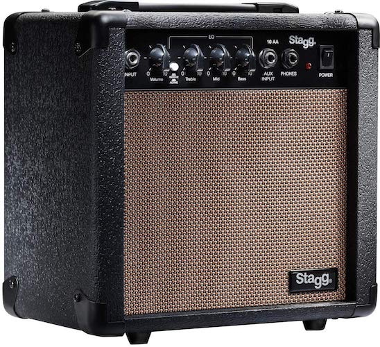 5. Stagg 10 AA USA 10-Watt Acoustic Guitar Amplifier