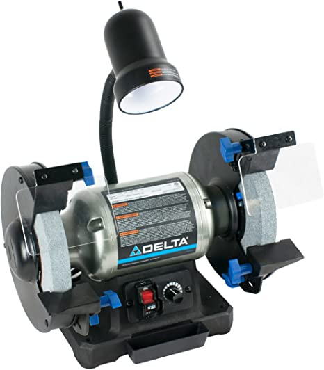 6. Delta Power Tools 23-197 8-Inch Variable Speed Bench Grinder
