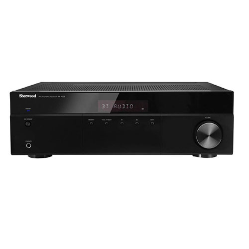 5. Sherwood RX4508 200W AM/FM Stereo Receiver with Bluetooth, Black