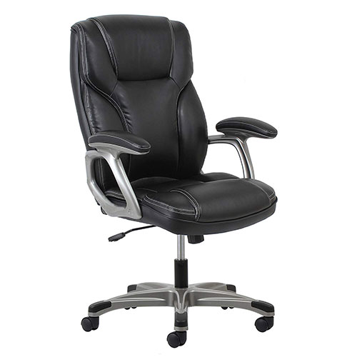 5. OFM Essentials High-Back Leather Executive Office/Computer Chair (ESS-6030-BLK)