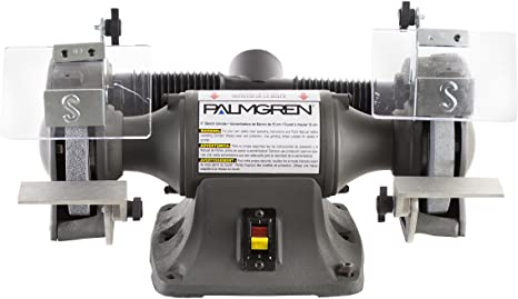 2. Palmgren 82602 1/3HP, 115/230V POWERGRIND Bench Grinder with Dust Collection, 6-Inch