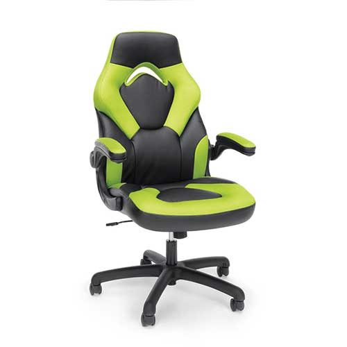 Best Gaming Chairs Under 100 1. Essentials Racing Style Leather Gaming Chair (ESS-3085-GRN)