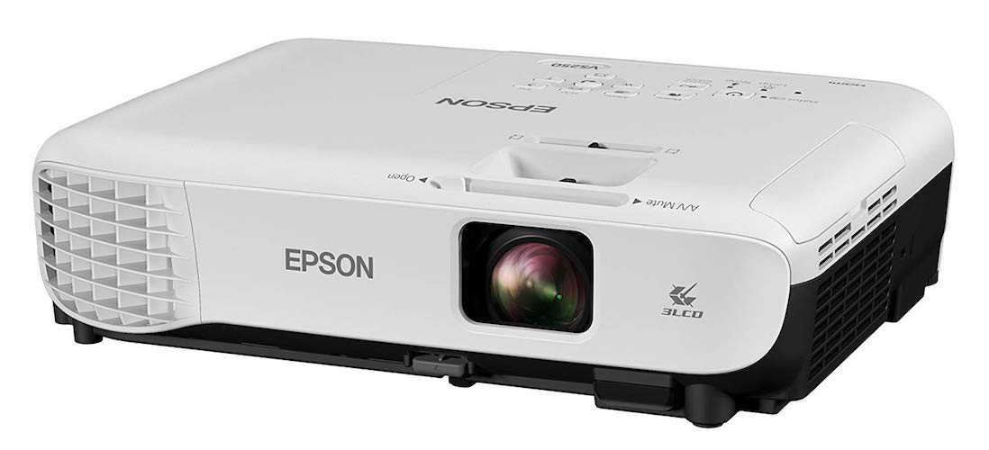 1. Epson VS250 SVGA 3,200 lumens color brightness (color light output) 3,200 lumens white brightness (white light output) HDMI 3LCD projector