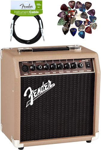 2. Fender Acoustasonic 15 Acoustic Guitar Amplifier