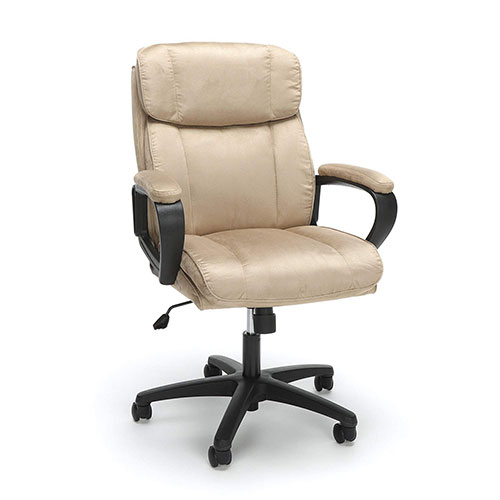 Best Office Desk Chairs Under 100 8. Essentials Executive Chair - Mid Back Office Computer Chair (ESS-3082-TAN)
