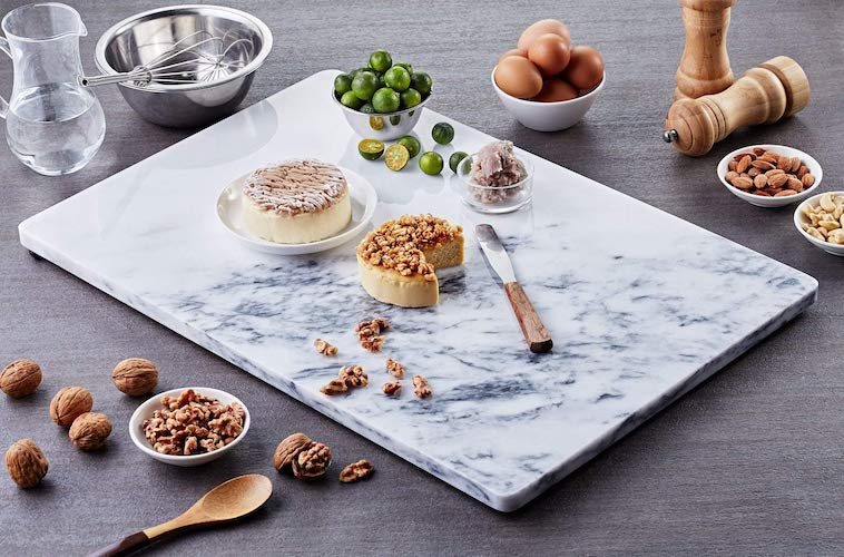 3. JEmarble Pastry Board 12x16 inch with No-Slip Rubber Feet for Stability